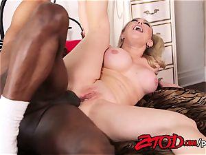 Kagney Linn Karter takes a gigantic ebony cock