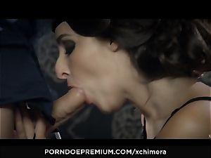 XCHIMERA - Amirah Adara puss internal cumshot in fetish pummel