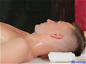 sensual massage turns into tantric romp with explosive orgasm