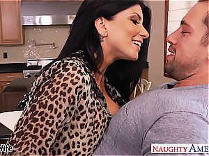 mischievous Romi Rain takes his member deep inwards her
