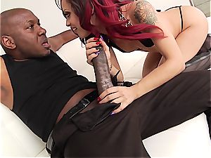 Holly Hendrix's first interracial rectal