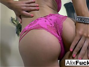 Alix Lynx makes sure she is sated