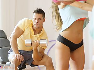 sport rooms thick salami workout for babe after class orgy