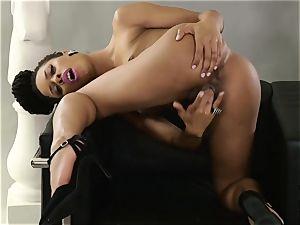Kira Noir solo vulva frolicking demonstrate