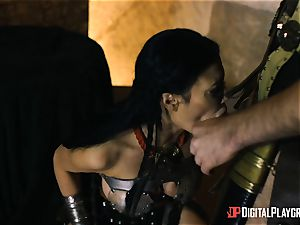 horny warrior Jasmine Jae anal beaten by a gladiator
