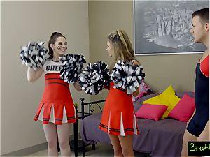 teenager cheerleader ravages her stepbrother