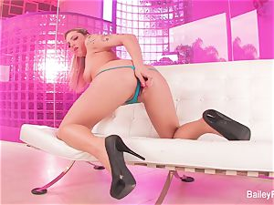 super-steamy tatted blondie Dahlia Sky plays with a romp plaything