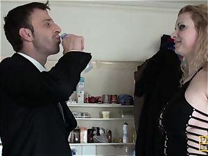 PASCALSSUBSLUTS - bondage & discipline Anita Vixen eats jizz after anal invasion