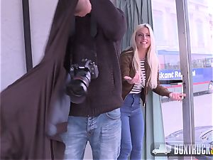 blondie Jessie Volt gets nailed in Front of the Eiffel T