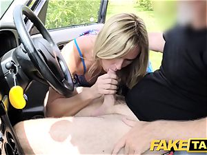 fake taxi Mum with congenital udders gets gigantic brit chisel