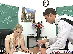 naughty Julia Ann is super-naughty for pecker after class