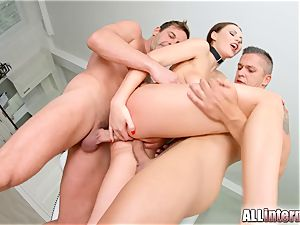 Tina Kay rectal group sex internal ejaculation on All inner part two