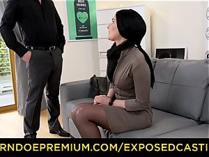 unsheathed audition - super-fucking-hot Czech honey plunged by stallion
