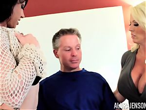 Alura Jenson and her labia gobbling pal Brandi May get into deep grief