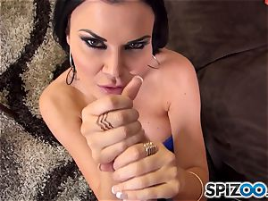 british gigantic jugged bombshell Jasmine Jae eats on phat fuckpole