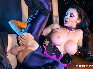 Aletta Ocean wedged with the monster chisel of Danny D