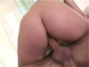 Harmony Rose is left with a pearly cunt vag