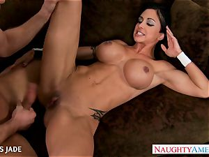 stiff bodied love buttons Jade ravaging