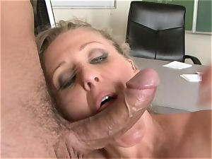 Julia Ann is a hardcore cougar who wants to put her cooter on a rigid chisel