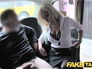 faux cab scorching estate agent gets creampied