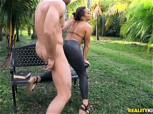 Abigail Mac plowed in her taut muff
