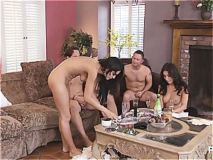 gang hookup and Hangman with ultra-cute couples 4