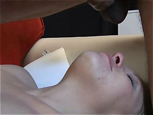 smallish blonde cuckold shows her dt and gargle