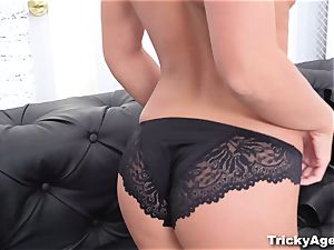 Tricky Agent - perky porn casting first-timer