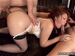 providing her booty up in a super-naughty domination & submission session