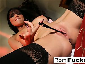 Romi slams her slit full of undies