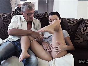 DADDY4K. dad takes part in spontaneous fuck-fest with ultra-cutie Erica dark-hued