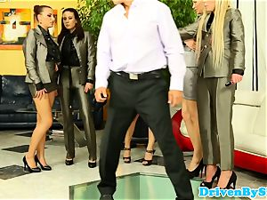 glamour stunners butt-fucked in reverse gang-fuck