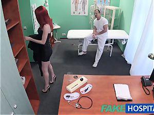 FakeHospital ultra-cute redhead rails medic for cash