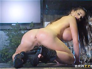 well-lubed up Cathy Heaven getting backside drilled