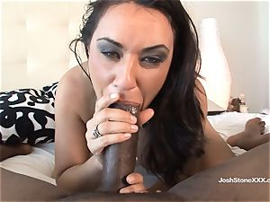 jaw-dropping black-haired Charley haunt luvs enormous dark-hued man rod
