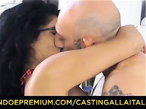 audition ALLA ITALIANA - Romanian nymphomaniac backside pummeled