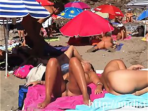 splendid naturist girls in natures apparel on the beach